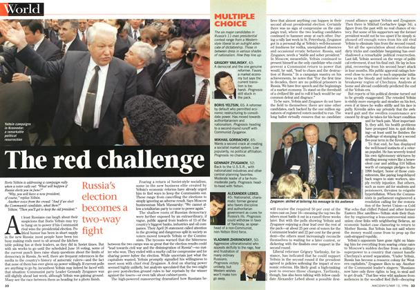 Article Preview: The red challenge, May 1996 | Maclean's