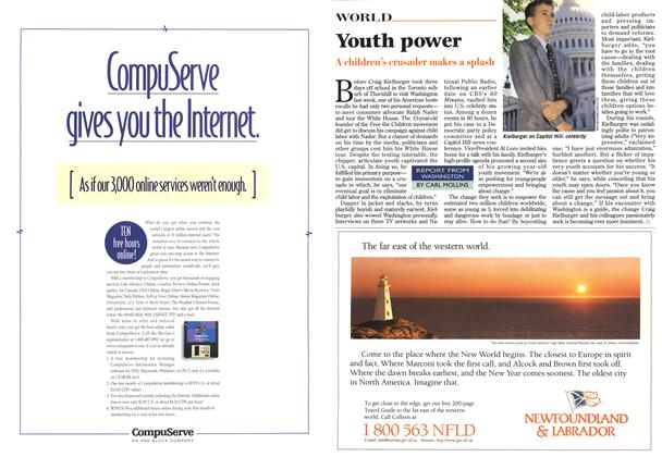 Article Preview: Youth power, May 1996 | Maclean's