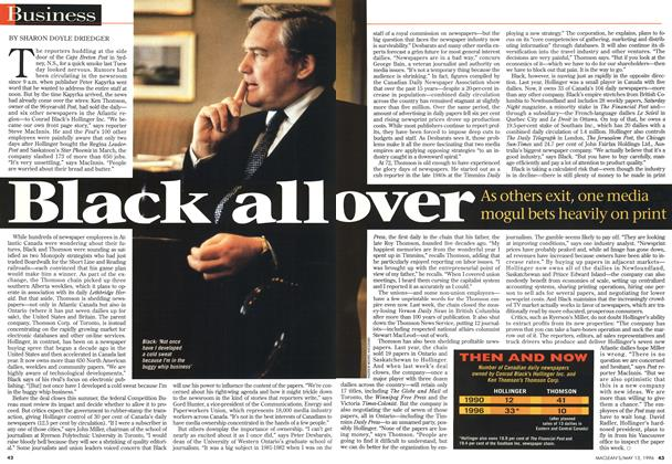 Article Preview: Black all over, May 1996 | Maclean's