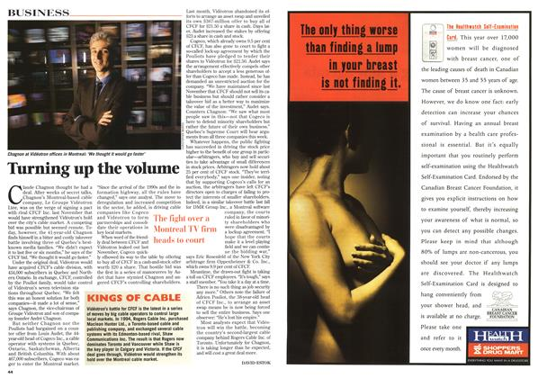 Article Preview: Turning up the volume, May 1996 | Maclean's