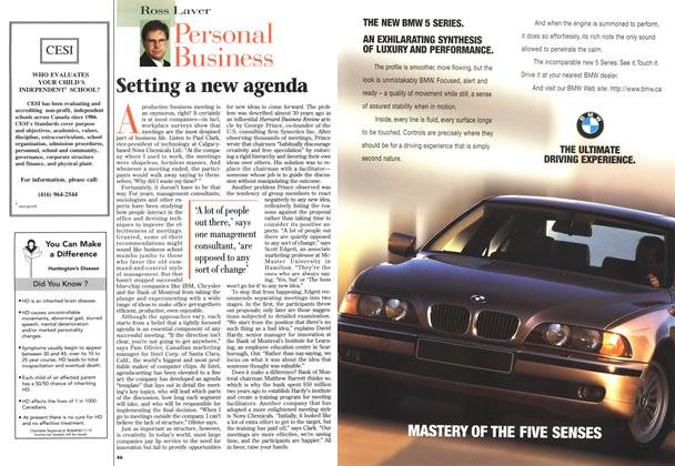 Article Preview: Setting a new agenda, May 1996 | Maclean's