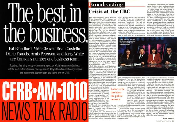 Article Preview: Crisis at the CBC, May 1996 | Maclean's