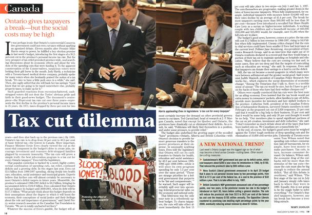 Article Preview: Tax cut dilemma, May 1996 | Maclean's