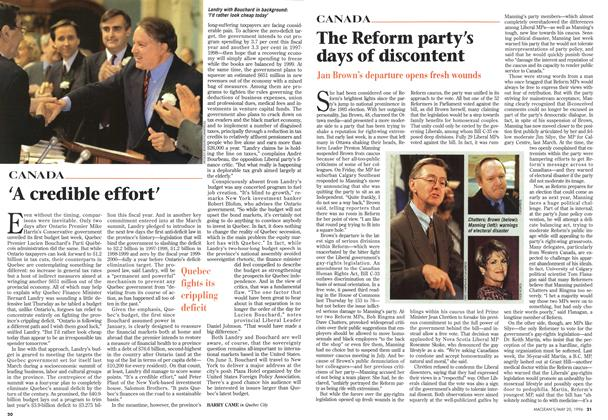 Article Preview: 'A credible effort', May 1996 | Maclean's