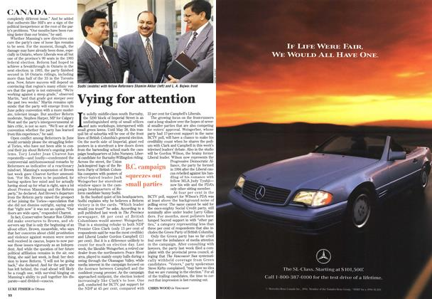 Article Preview: Vying for attention, May 1996 | Maclean's