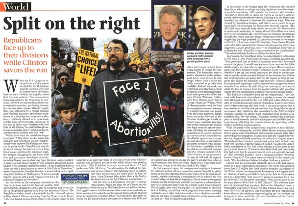 Article Preview: Split on the right, May 1996 | Maclean's