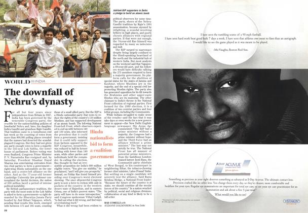 Article Preview: The downfall of Nehru's dynasty, May 1996 | Maclean's