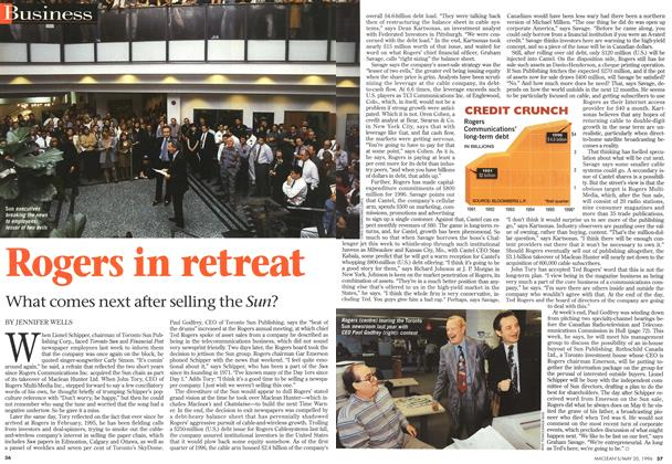 Article Preview: Rogers in retreat, May 1996   Maclean's