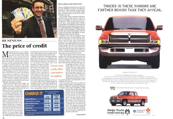 Article Preview: The price of credit, May 1996 | Maclean's