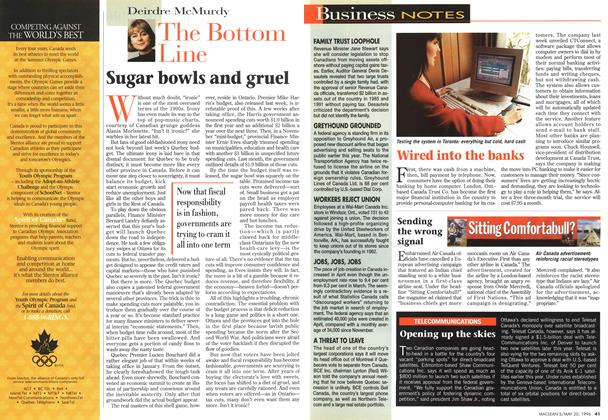 Article Preview: The Bottom Line, May 1996 | Maclean's