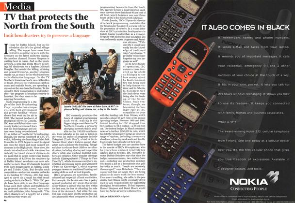 Article Preview: TV that protects the North from the South, May 1996 | Maclean's