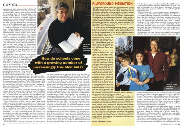 Article Preview: PLAYGROUND MEDIATION, May 1996 | Maclean's