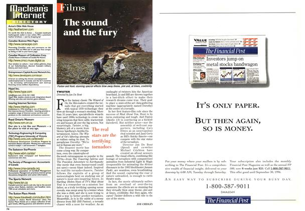 Article Preview: The sound and the fury, May 1996 | Maclean's