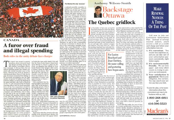 Article Preview: The Quebec gridlock, May 1996 | Maclean's