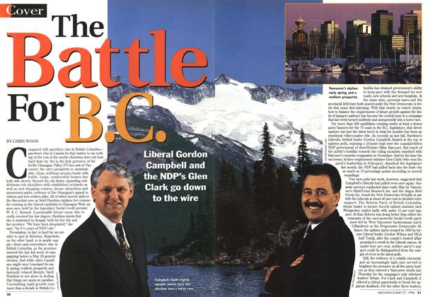 Article Preview: The Battle For B.C., May 1996 | Maclean's