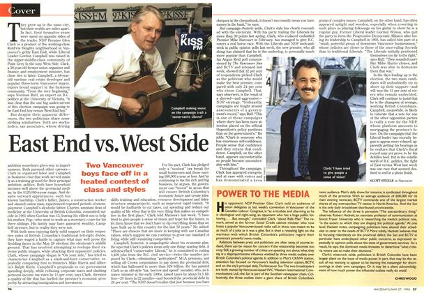 Article Preview: East End vs. West Side, May 1996 | Maclean's