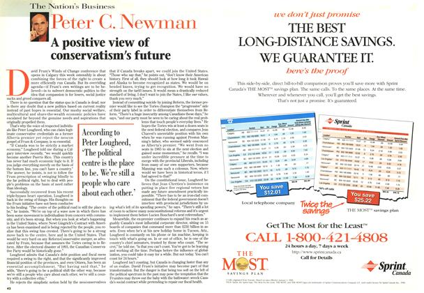 Article Preview: A positive view of conservatism's future, May 1996 | Maclean's