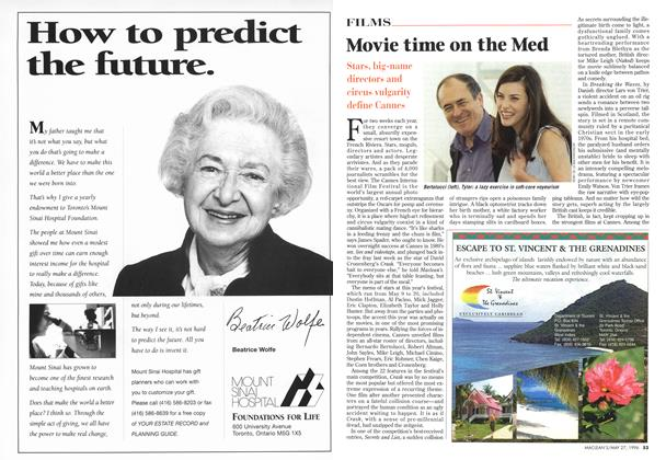 Article Preview: Movie time on the Med, May 1996 | Maclean's