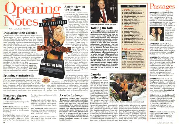 Article Preview: Opening Notes, May 1996 | Maclean's