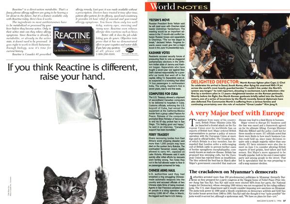 Article Preview: World NOTES, JUNE 3,1996 1996 | Maclean's