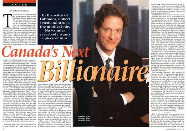 Article Preview: Canada's Next Billio naire, JUNE 3,1996 1996 | Maclean's