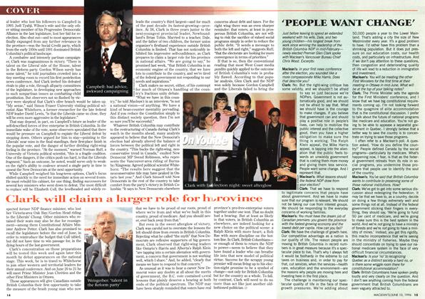 Article Preview: 'PEOPLE WANT CHANGE', June 1996 | Maclean's