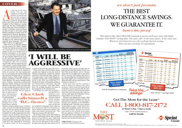 Article Preview: 'I WILL BE AGGRESSIVE', June 1996 | Maclean's