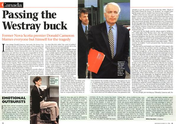 Article Preview: Passing the Westray buck, June 1996 | Maclean's