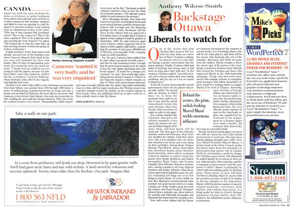 Article Preview: Liberals to watch for, June 1996 | Maclean's