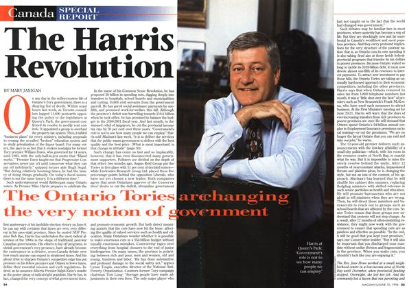 Article Preview: The Harris Revolution, June 1996 | Maclean's