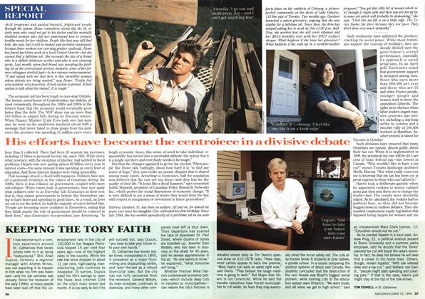 Article Preview: KEEPING THE TORY FAITH, June 1996 | Maclean's