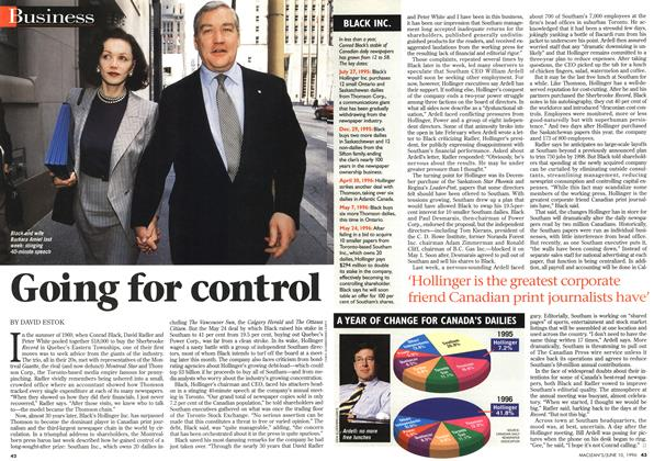 Article Preview: Going for control, June 1996 | Maclean's