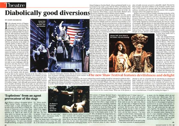 Article Preview: Diabolically good diversions, June 1996 | Maclean's