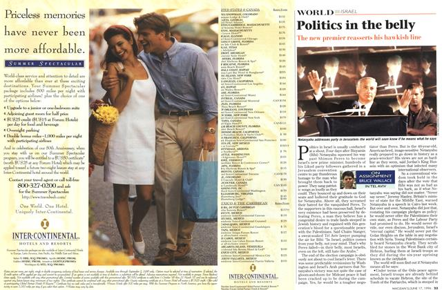 Article Preview: Politics in the belly, June 1996 | Maclean's