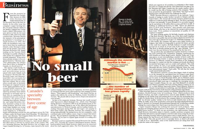 Article Preview: No small beer, June 1996 | Maclean's
