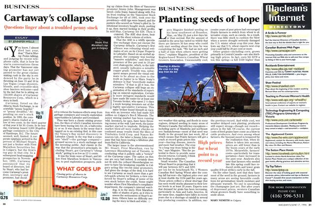 Article Preview: Cartaway's collapse, June 1996 | Maclean's