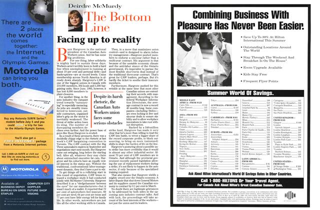 Article Preview: Facing up to reality, June 1996 | Maclean's
