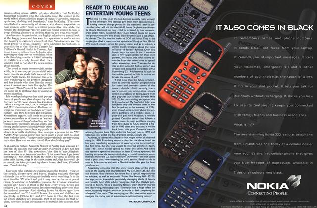 Article Preview: READY TO EDUCATE AND ENTERTAIN YOUNG TEENS, June 1996 | Maclean's