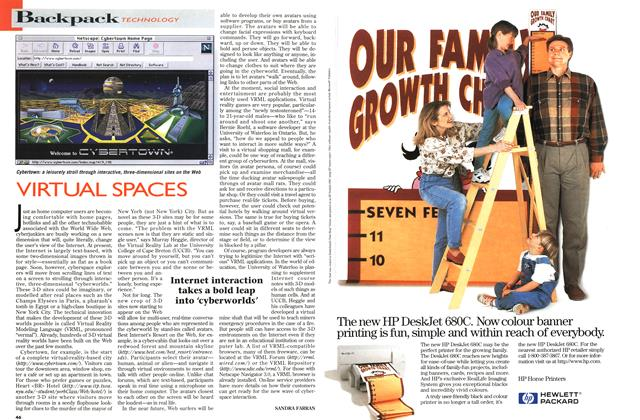 Article Preview: VIRTUAL SPACES, June 1996 | Maclean's
