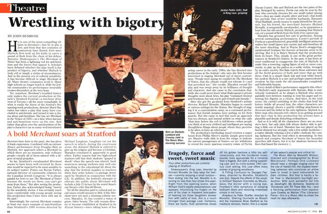 Article Preview: Wrestling with bigotry, June 1996 | Maclean's