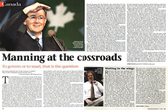 Article Preview: Waiting in the wings, June 1996 | Maclean's