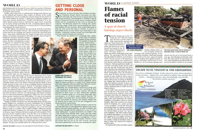 Article Preview: Flames of racial tension, June 1996 | Maclean's