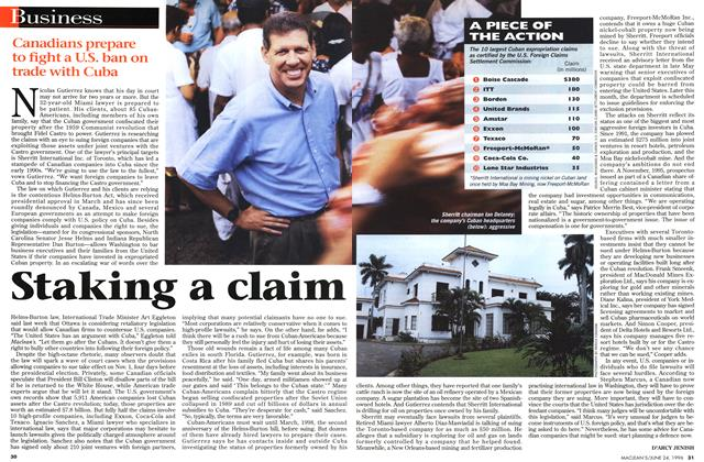 Article Preview: Staking a claim, June 1996 | Maclean's