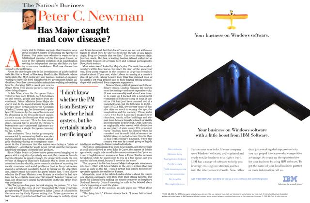 Article Preview: Has Major caught mad cow disease?, June 1996 | Maclean's