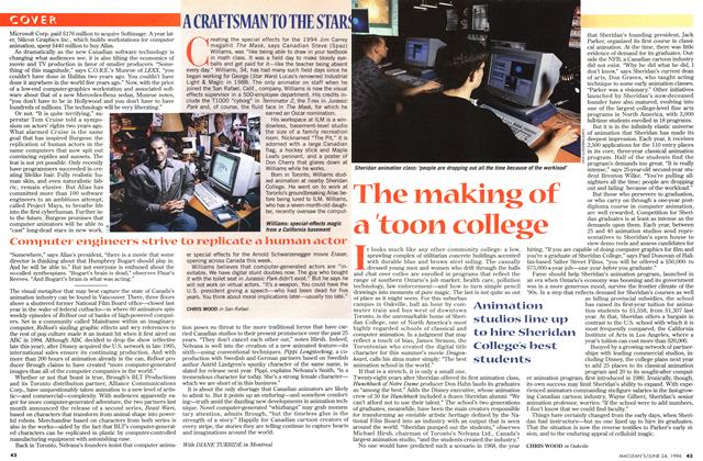 Article Preview: The making of a 'toon college, June 1996 | Maclean's