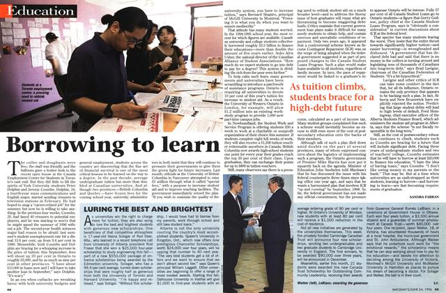 Article Preview: Borrowing to learn, June 1996 | Maclean's