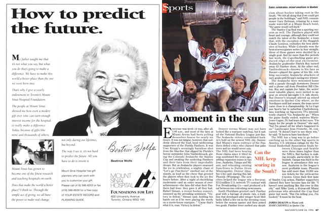 Article Preview: A moment in the sun, June 1996 | Maclean's