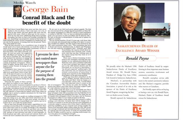 Article Preview: Conrad Black and the benefit of the doubt, June 1996 | Maclean's