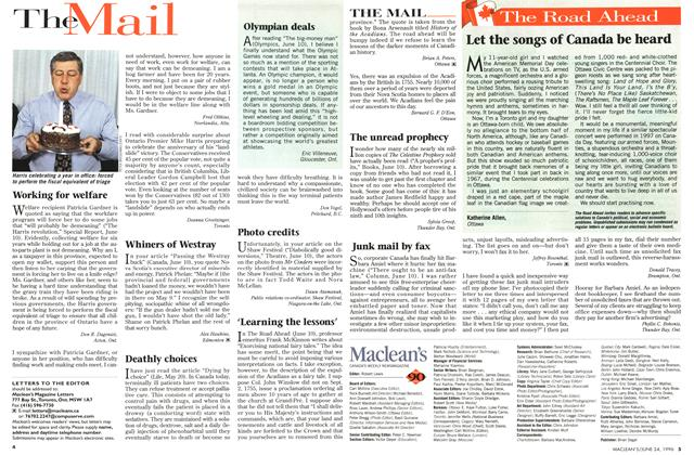 Article Preview: The Mail, June 1996 | Maclean's