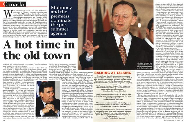 Article Preview: A hot time in the old town, June 1996 | Maclean's